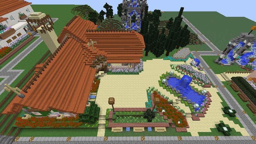 Minecrafterししゃもがマインクラフトでぷっこ村にオルゴールの森にある小さな教会を建てて結婚式場にする9