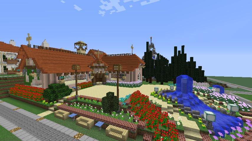 Minecrafterししゃもがマインクラフトでぷっこ村にオルゴールの森にある小さな教会を建てて結婚式場にする11