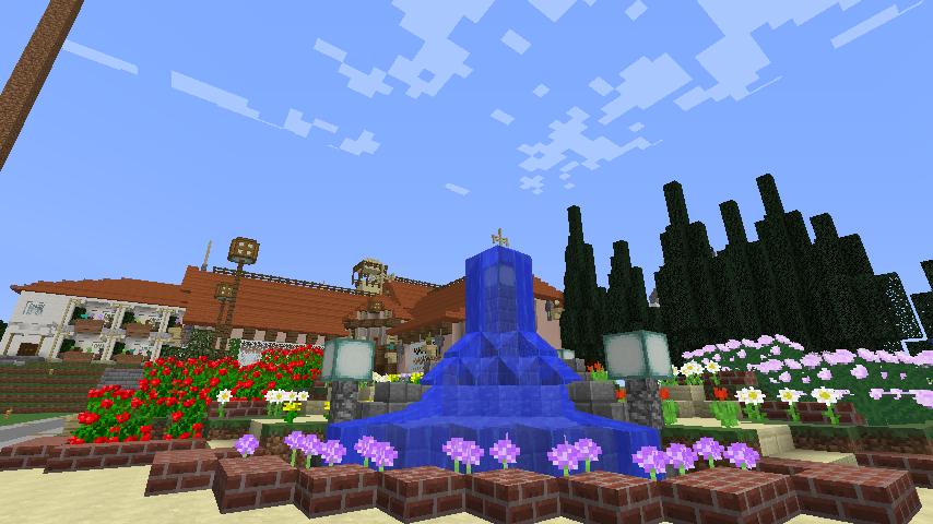 Minecrafterししゃもがマインクラフトでぷっこ村にオルゴールの森にある小さな教会を建てて結婚式場にする10