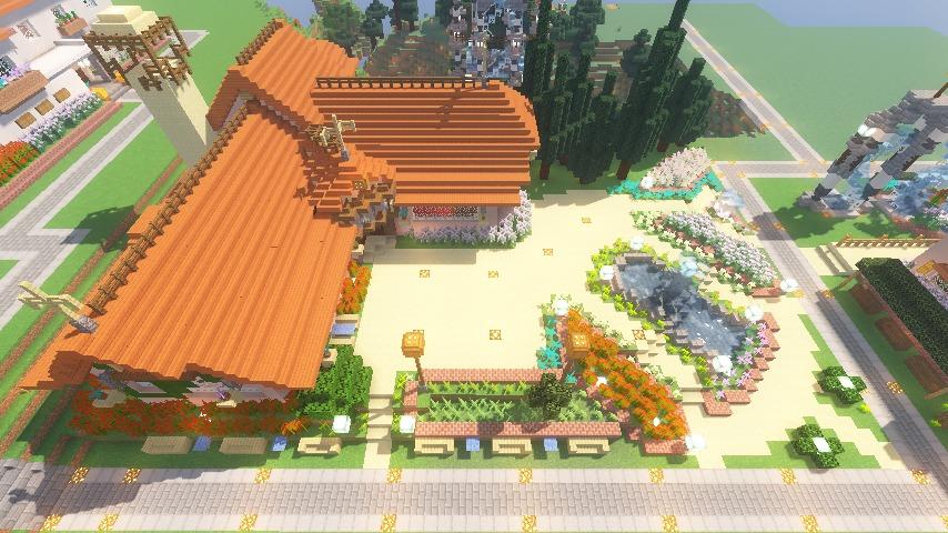 Minecrafterししゃもがマインクラフトでぷっこ村にオルゴールの森にある小さな教会を建てて結婚式場にする12