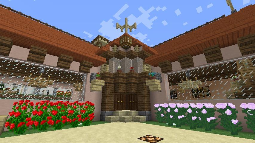 Minecrafterししゃもがマインクラフトでぷっこ村にオルゴールの森にある小さな教会を建てて結婚式場にする2