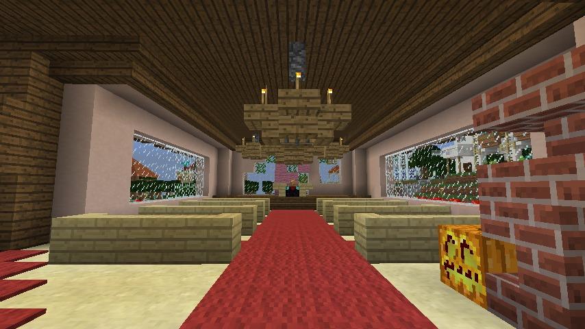 Minecrafterししゃもがマインクラフトでぷっこ村にオルゴールの森にある小さな教会を建てて結婚式場にする4