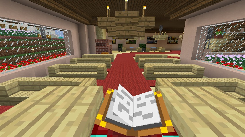 Minecrafterししゃもがマインクラフトでぷっこ村にオルゴールの森にある小さな教会を建てて結婚式場にする6