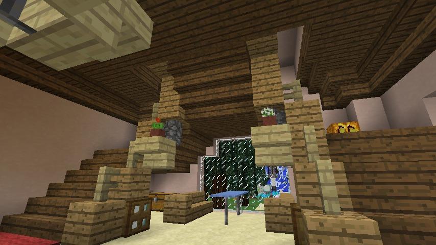 Minecrafterししゃもがマインクラフトでぷっこ村にオルゴールの森にある小さな教会を建てて結婚式場にする8