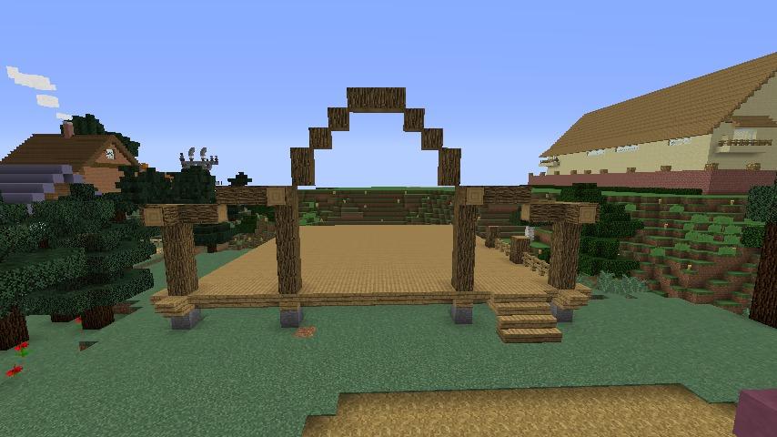 Minecrafterししゃもがマインクラフトでぷっこ村にログハウスを建設して移住者の受け入れを促進する3