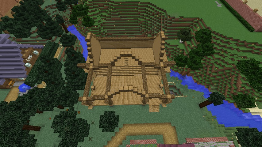 Minecrafterししゃもがマインクラフトでぷっこ村にログハウスを建設して移住者の受け入れを促進する4