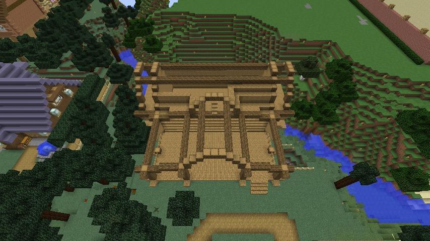 Minecrafterししゃもがマインクラフトでぷっこ村にログハウスを建設して移住者の受け入れを促進する6
