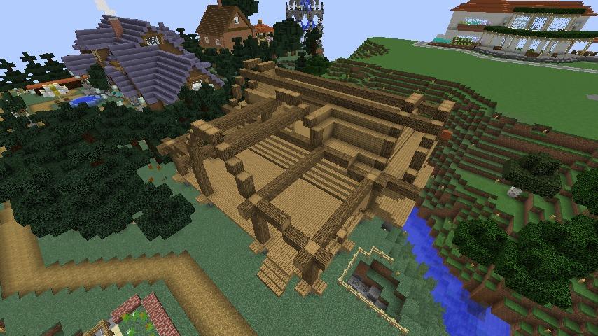 Minecrafterししゃもがマインクラフトでぷっこ村にログハウスを建設して移住者の受け入れを促進する7