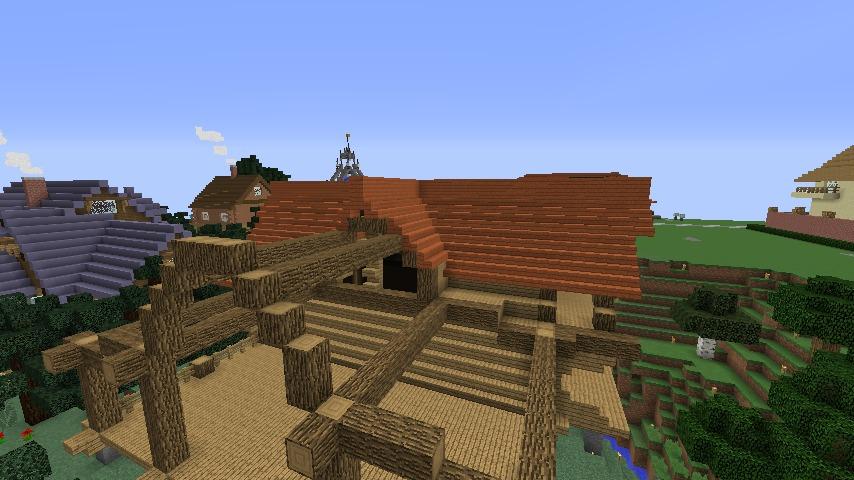 Minecrafterししゃもがマインクラフトでぷっこ村にログハウスを建設して移住者の受け入れを促進する8