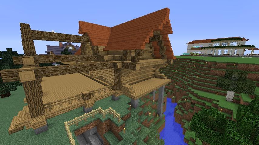 Minecrafterししゃもがマインクラフトでぷっこ村にログハウスを建設して移住者の受け入れを促進する9
