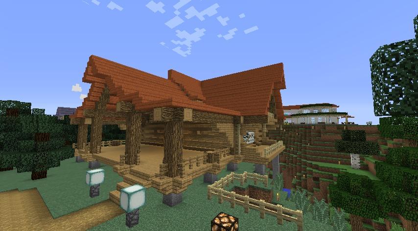 Minecrafterししゃもがマインクラフトでぷっこ村にログハウスを建設して移住者の受け入れを促進する11