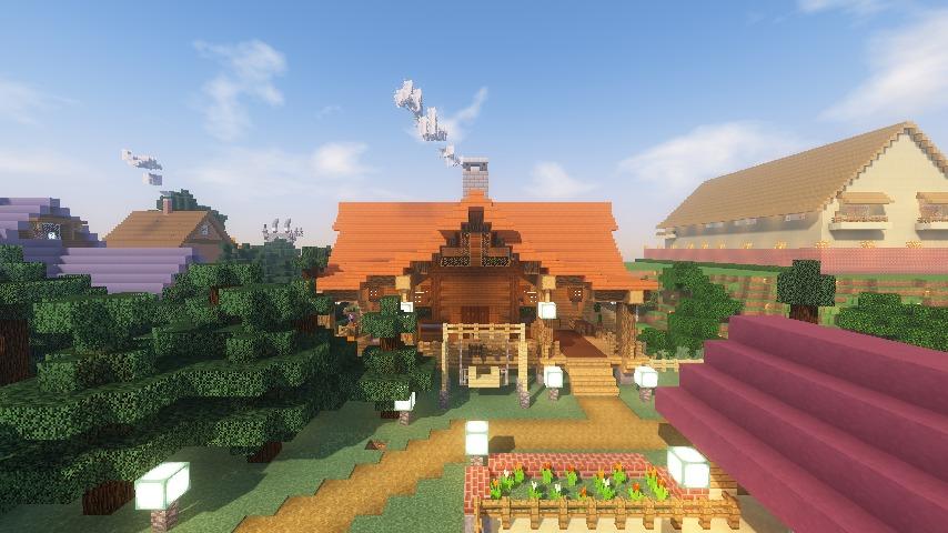 Minecrafterししゃもがマインクラフトでぷっこ村にログハウスを建設して移住者の受け入れを促進する20