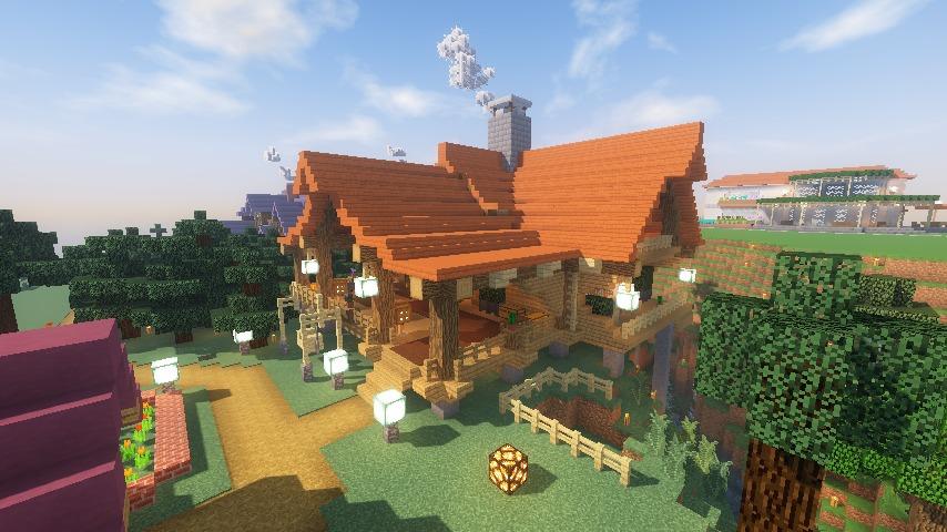 Minecrafterししゃもがマインクラフトでぷっこ村にログハウスを建設して移住者の受け入れを促進する21
