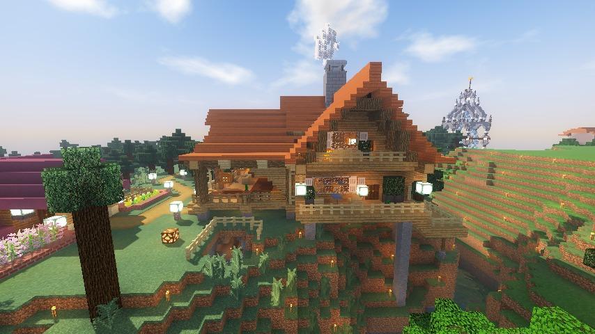 Minecrafterししゃもがマインクラフトでぷっこ村にログハウスを建設して移住者の受け入れを促進する22