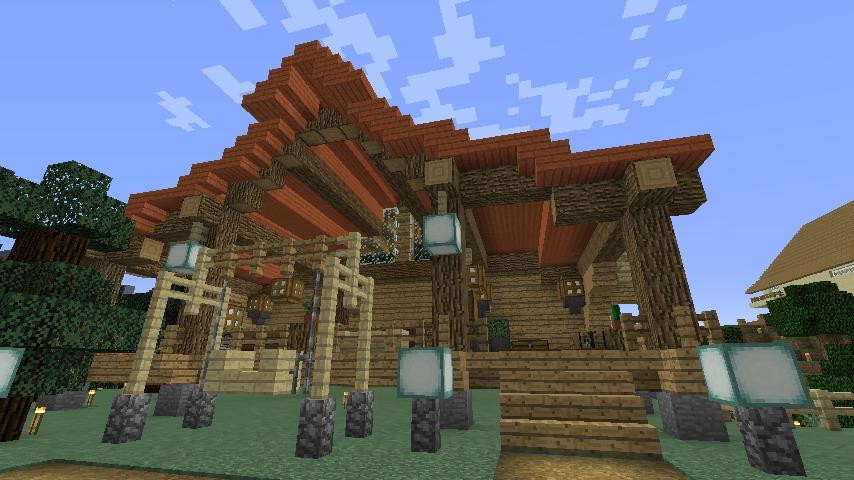Minecrafterししゃもがマインクラフトでぷっこ村にログハウスを建設して移住者の受け入れを促進する12