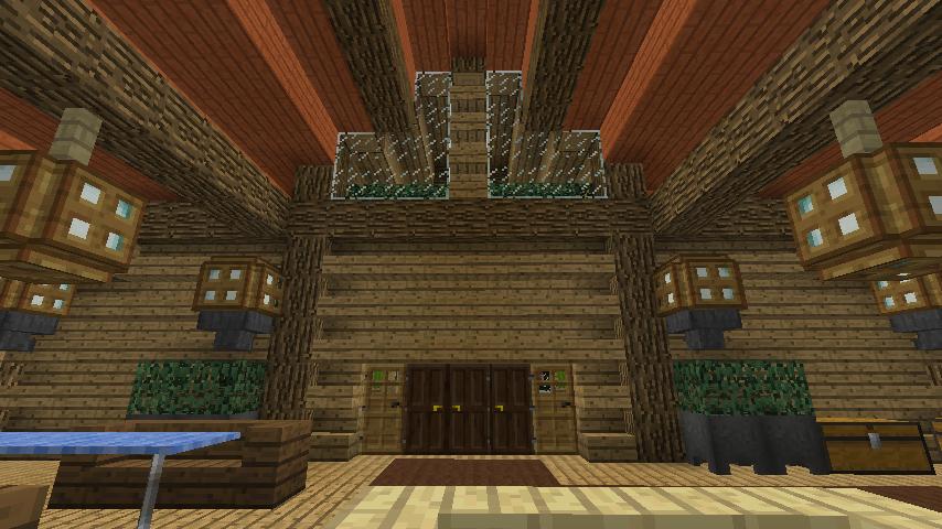 Minecrafterししゃもがマインクラフトでぷっこ村にログハウスを建設して移住者の受け入れを促進する14