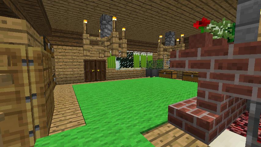 Minecrafterししゃもがマインクラフトでぷっこ村にログハウスを建設して移住者の受け入れを促進する16