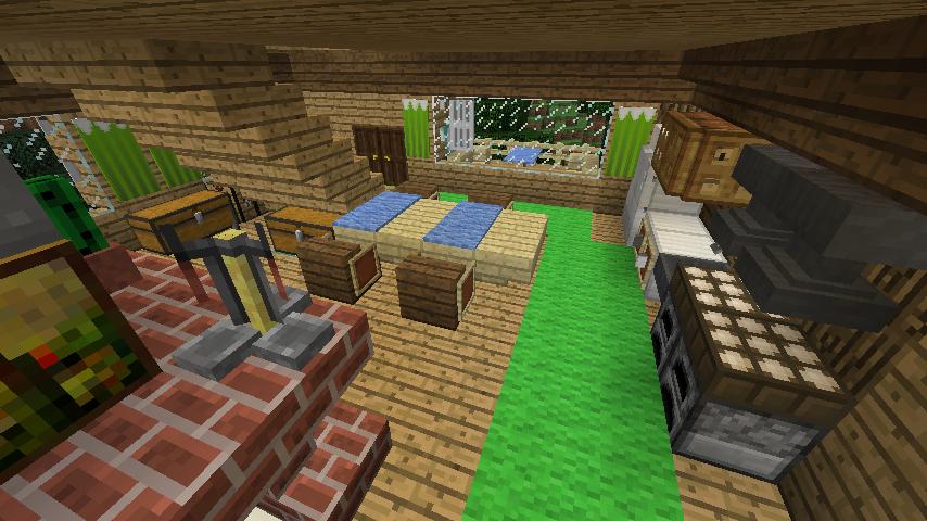 Minecrafterししゃもがマインクラフトでぷっこ村にログハウスを建設して移住者の受け入れを促進する17