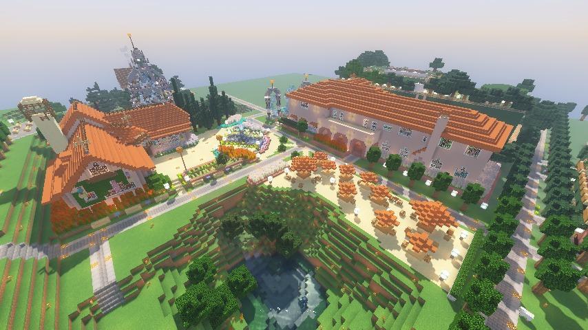 Minecrafterししゃもがマインクラフトでぷっこ村にオルゴールの森にある小さな教会を建てて結婚式場にする15