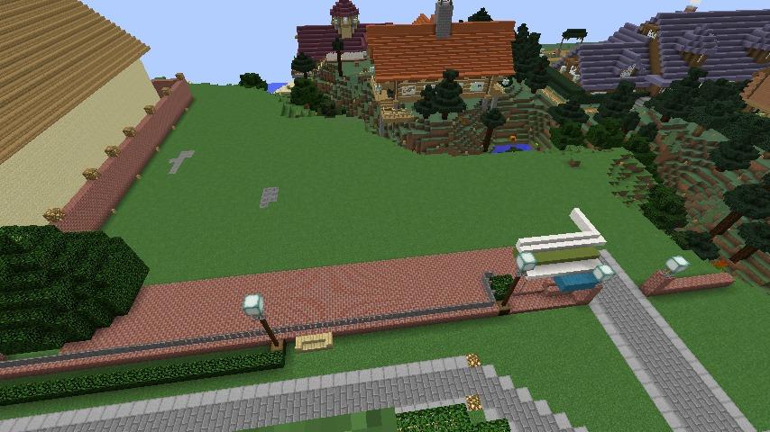Minecrafterししゃもがマインクラフトでぷっこ村に山手10番館を再現する2