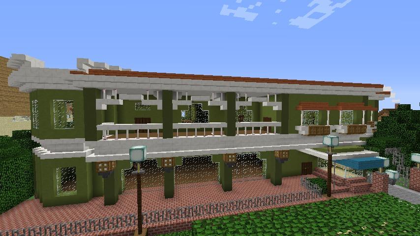 Minecrafterししゃもがマインクラフトでぷっこ村に山手10番館を再現する5