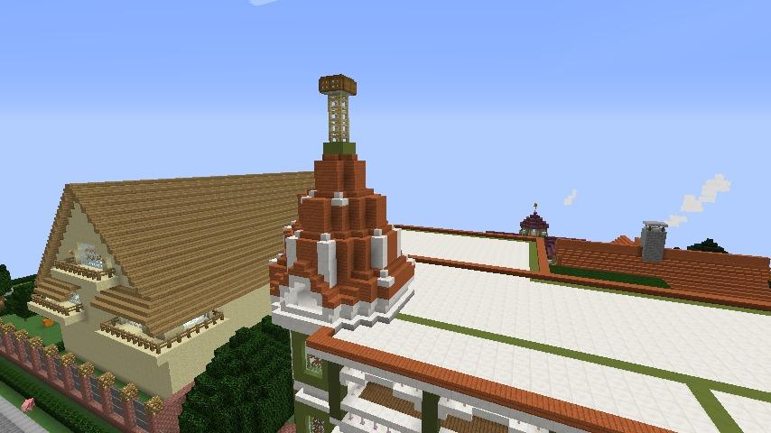 Minecrafterししゃもがマインクラフトでぷっこ村に山手10番館を再現する6