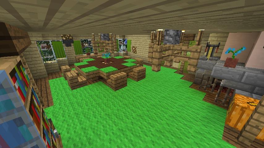 Minecrafterししゃもがマインクラフトでぷっこ村にブラフ18番館を建設し巨大噴水を眺めながらくつろげる観光資源化する15