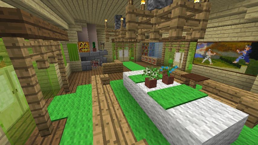 Minecrafterししゃもがマインクラフトでぷっこ村にブラフ18番館を建設し巨大噴水を眺めながらくつろげる観光資源化する18