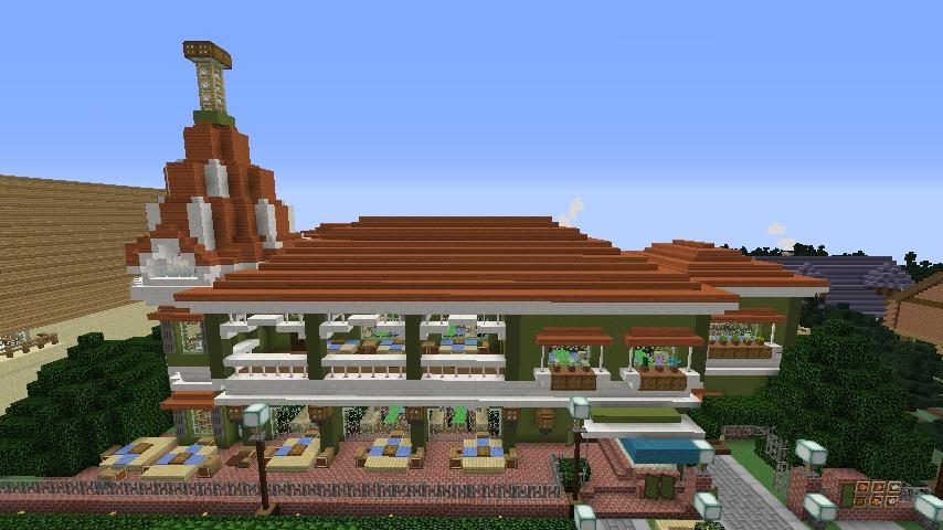 Minecrafterししゃもがマインクラフトでぷっこ村に山手10番館を再現する7
