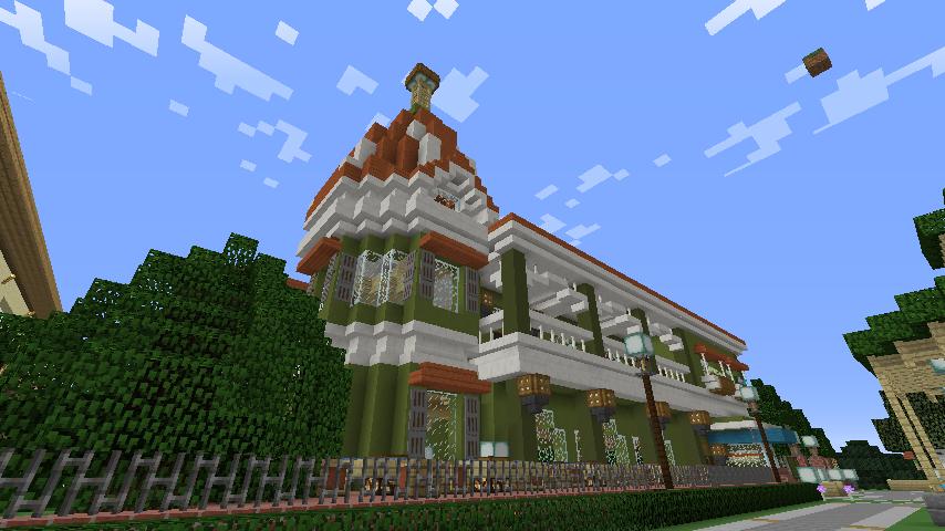 Minecrafterししゃもがマインクラフトでぷっこ村に山手10番館を再現する9