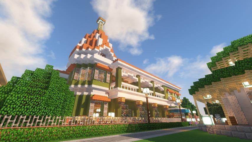 Minecrafterししゃもがマインクラフトでぷっこ村に山手10番館を再現する19