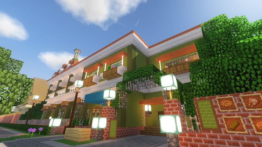 Minecrafterししゃもがマインクラフトでぷっこ村に山手10番館を再現する18