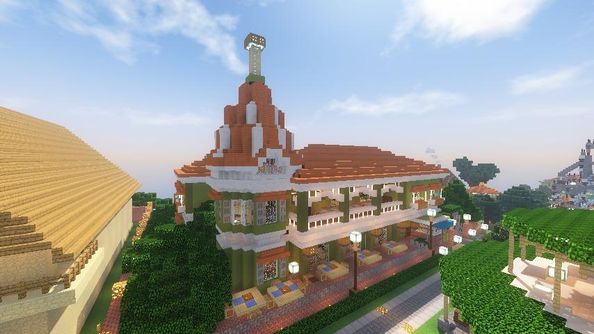 Minecrafterししゃもがマインクラフトでぷっこ村に山手10番館を再現する17