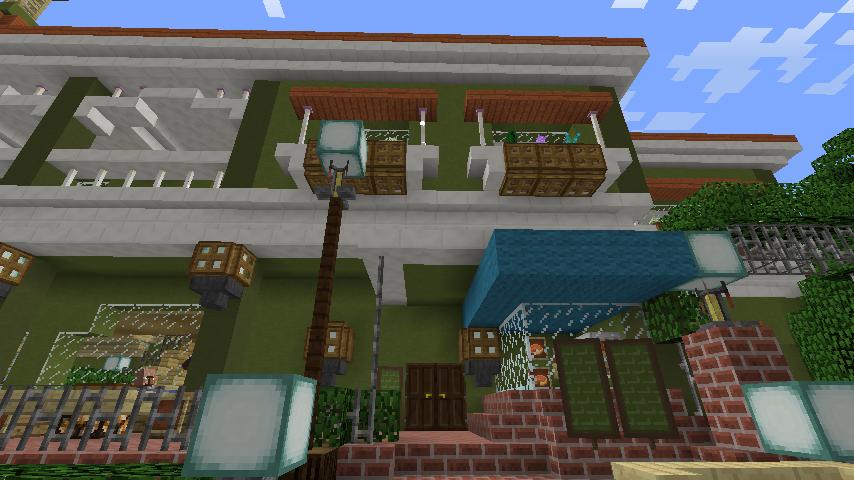 Minecrafterししゃもがマインクラフトでぷっこ村に山手10番館を再現する12