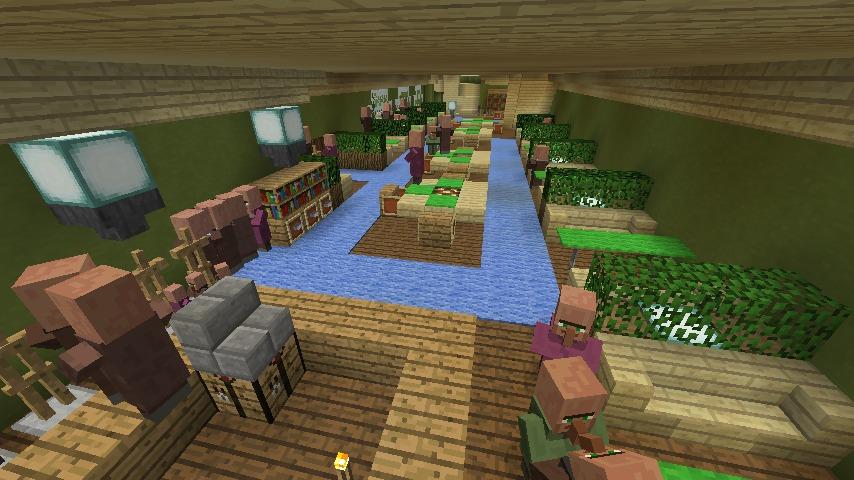 Minecrafterししゃもがマインクラフトでぷっこ村に山手10番館を再現する14