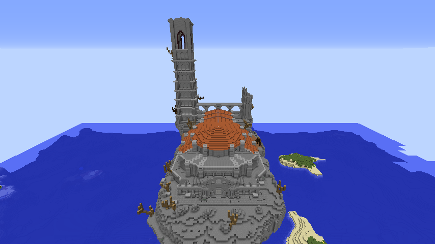 Minecrafterししゃもがマインクラフトでぷっこ村に火継ぎの祭祀場をつくってみた2