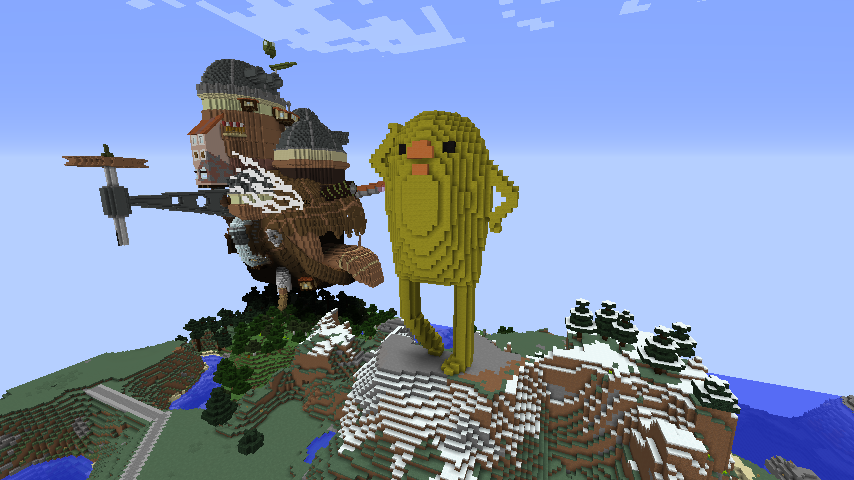 Minecrafterししゃもがマインクラフトでぷっこ村に三文堂のひよこを再現する4