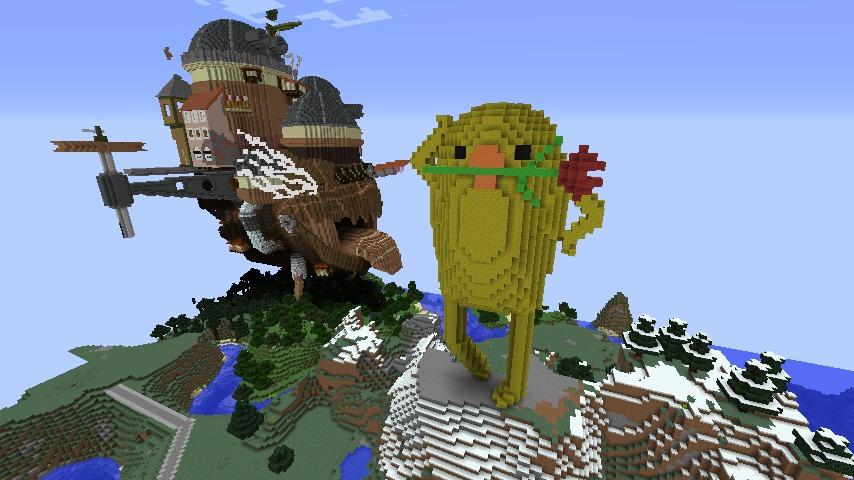 Minecrafterししゃもがマインクラフトでぷっこ村に三文堂のひよこを再現する5