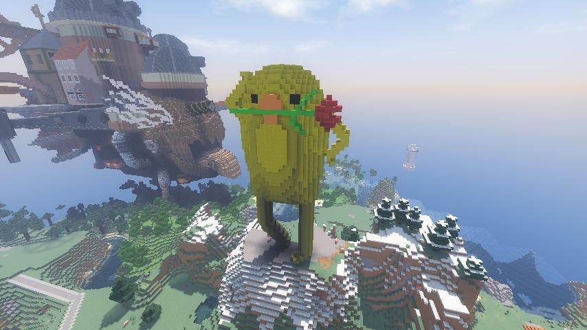 Minecrafterししゃもがマインクラフトでぷっこ村に三文堂のひよこを再現する8