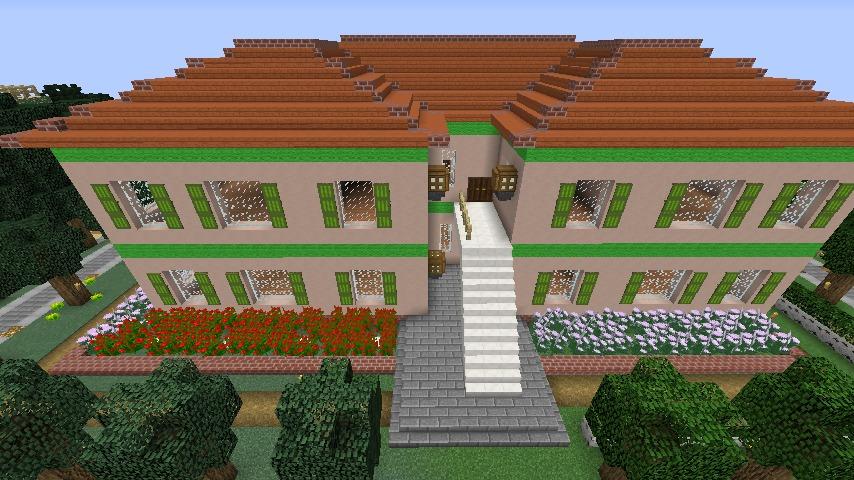 Minecrafterししゃもがマインクラフトでぷっこ村に山手234番館を再現してアパートとして貸し出す9