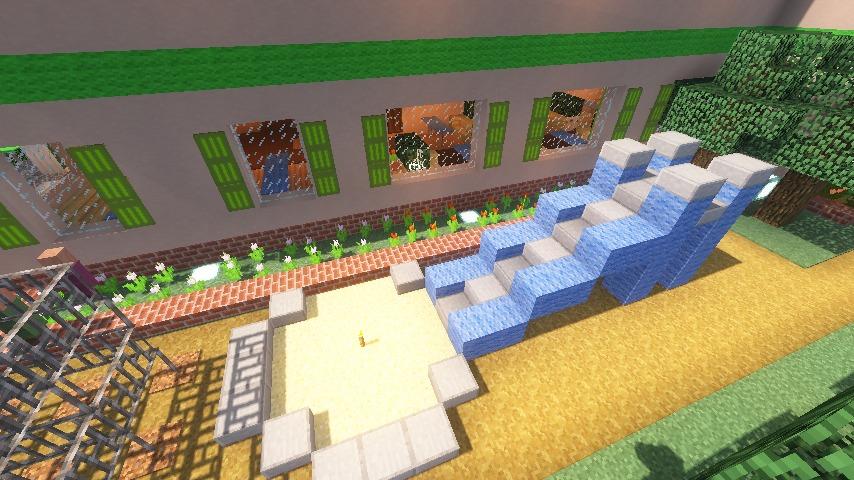Minecrafterししゃもがマインクラフトでぷっこ村に山手234番館を再現してアパートとして貸し出す21