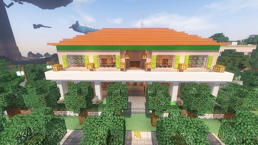 Minecrafterししゃもがマインクラフトでぷっこ村に山手234番館を再現してアパートとして貸し出す19