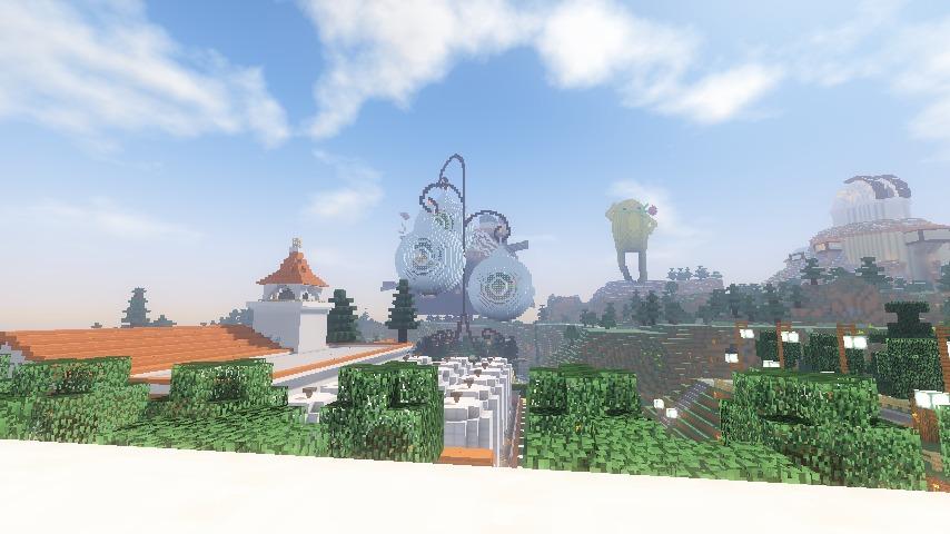 Minecrafterししゃもがマインクラフトでぷっこ村に山手234番館を再現してアパートとして貸し出す23