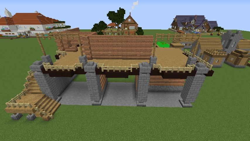 Minecrafterししゃもがマインクラフトでぷっこ村に移住希望者受け入れのためのログハウス5号を建設する2