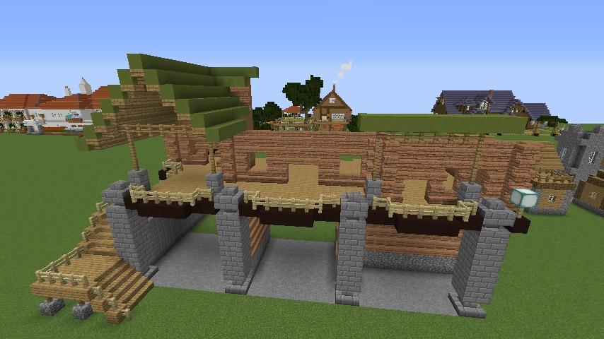 Minecrafterししゃもがマインクラフトでぷっこ村に移住希望者受け入れのためのログハウス5号を建設する3