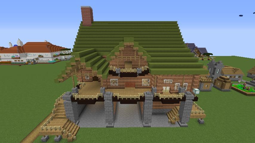 Minecrafterししゃもがマインクラフトでぷっこ村に移住希望者受け入れのためのログハウス5号を建設する4