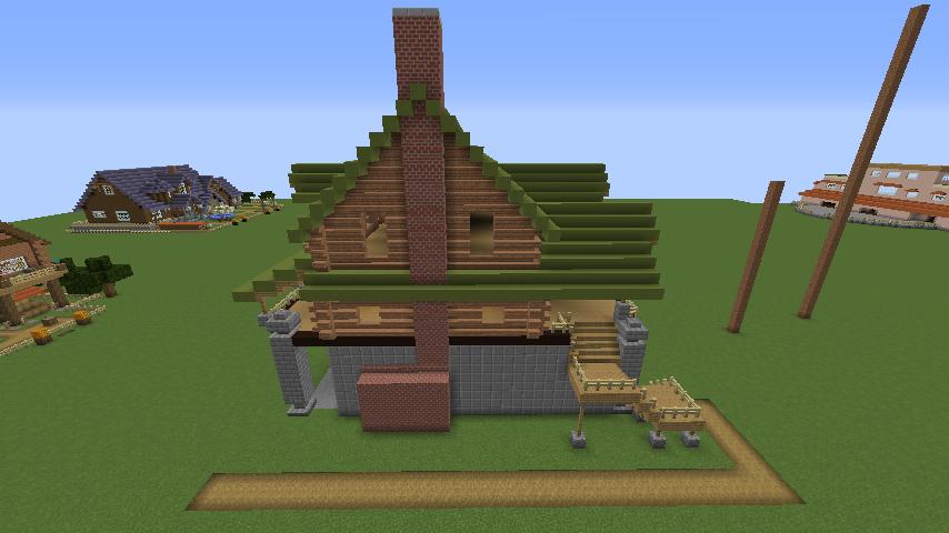 Minecrafterししゃもがマインクラフトでぷっこ村に移住希望者受け入れのためのログハウス5号を建設する5