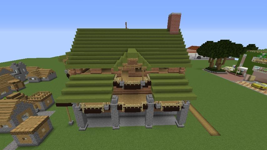 Minecrafterししゃもがマインクラフトでぷっこ村に移住希望者受け入れのためのログハウス5号を建設する7