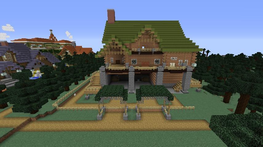 Minecrafterししゃもがマインクラフトでぷっこ村に移住希望者受け入れのためのログハウス5号を建設する8