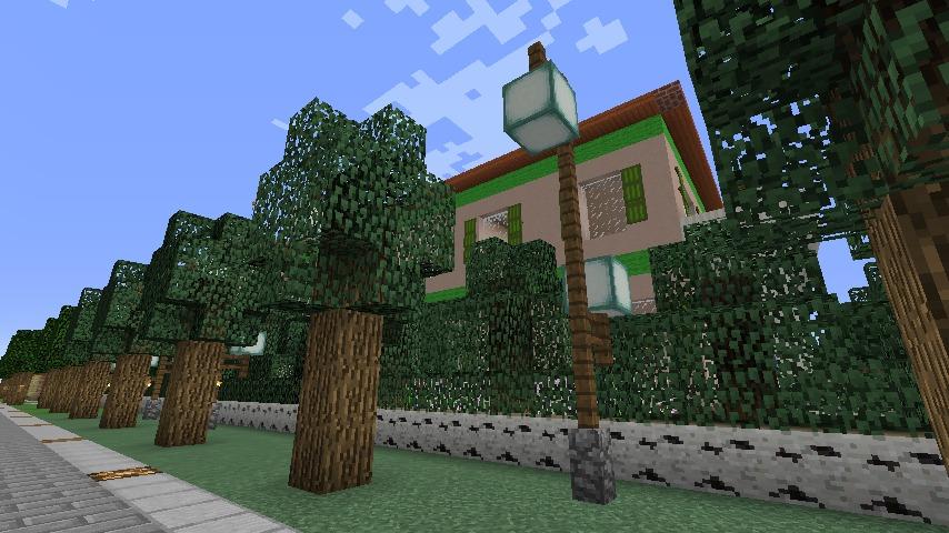 Minecrafterししゃもがマインクラフトでぷっこ村に山手234番館を再現してアパートとして貸し出す7